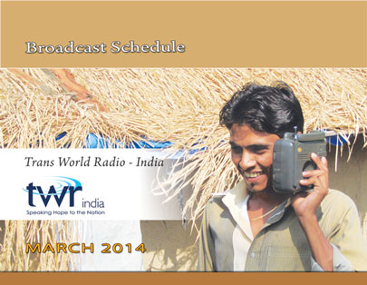 TWR India Broadcast Schedule